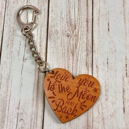 IMG 1633 - Personalised Name Heart Keyring Love You To The Moon Gift