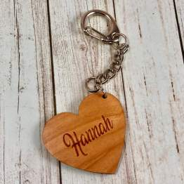 IMG 1634 - Personalised Name Heart Keyring Love You To The Moon Gift