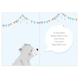 GC00583 2 - Personalised Daddy Bear Card