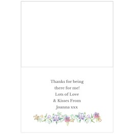 GC00588 3 - Personalised Bridesmaid 'Floral Watercolour Wedding' Card