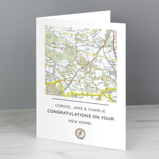 GC00593 2 - Personalised Present Day Map Compass Card