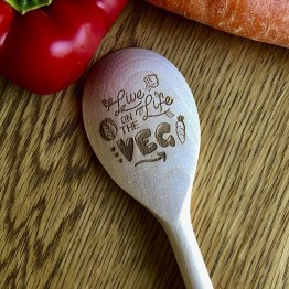 Live Life On The VEG - Vegetarian Live Life On The VEG Wooden Spoon
