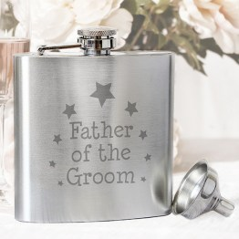 NP0102E15 - Father of the Groom Hip Flask