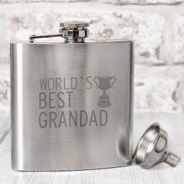 NP0102E26 - Worlds Best Grandad Hip Flask