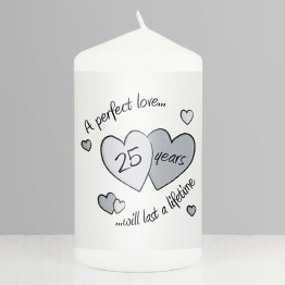 NP0409A52 - Perfect Love Silver Anniversary Candle
