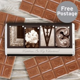 P0515B74 Personalised Affection Art Love Milk Chocolate Bar - Personalised Affection Art Love Milk Chocolate Bar