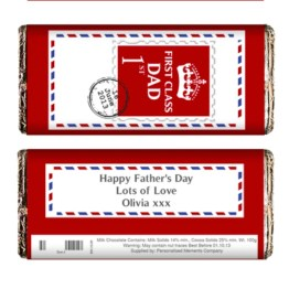 P0515G09 2 - Personalised 1st Class Milk Chocolate Bar