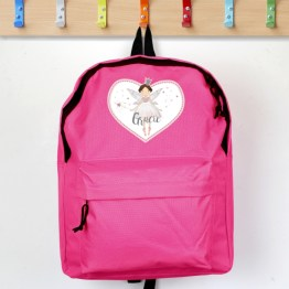 P0710H58 3 - Personalised Fairy Princess Pink Backpack