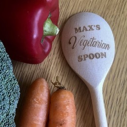 personalised VEGETARIAN wooden spoon - Personalised VEGETARIAN Wooden Spoon