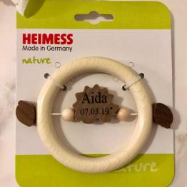 IMG 1904 e1552662470313 - HEIMESS Personalised Name & Date Touch Ring Hedgehog nature wood