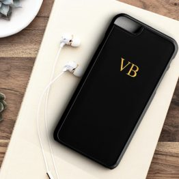 Initials Gold ING101 Iphone 7 black - Personalised Initial Wedding Phone Case