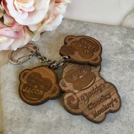 Daddys Cheeky Monkeys 2 - Personalised Cheeky Monkey Keyring