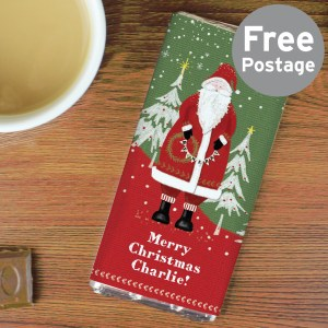Personalise this Santa Chocolate Bar with a message or name on the front