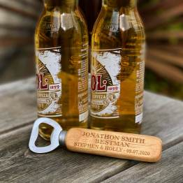 Personalised Best Man Wooden Engraved Bottle Opener - Homeware