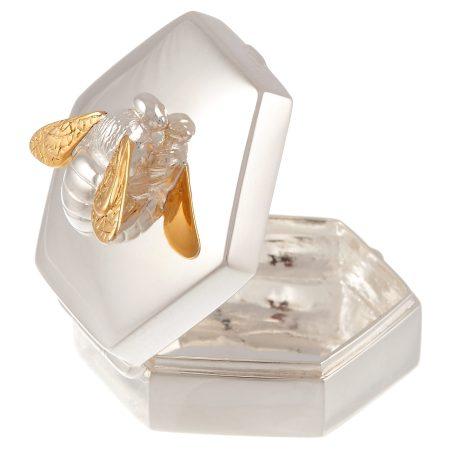 Silver Baby Birthday Christening Gift Trinket Box