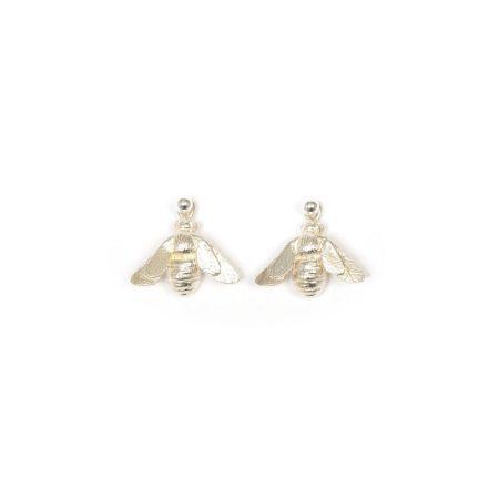 Silver Dangling Bee Earrings