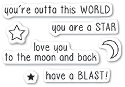 CL5221 Outta This World clear stamp set