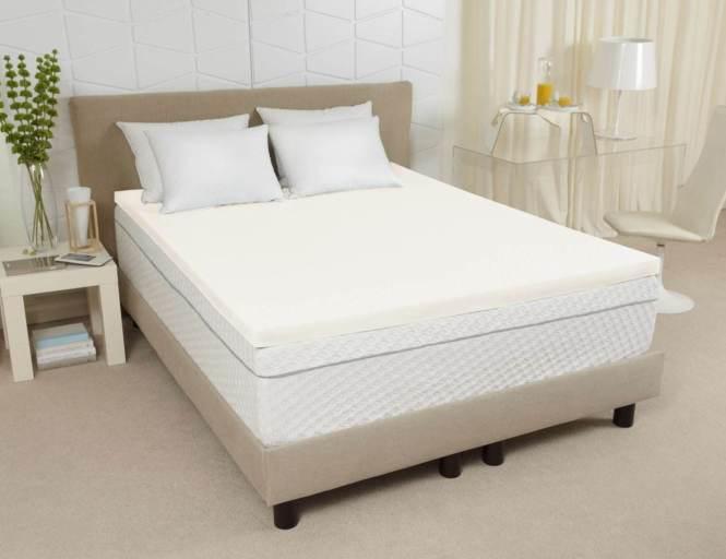 3 Sleep Joy Visc02 Ventilated Memory Foam Topper