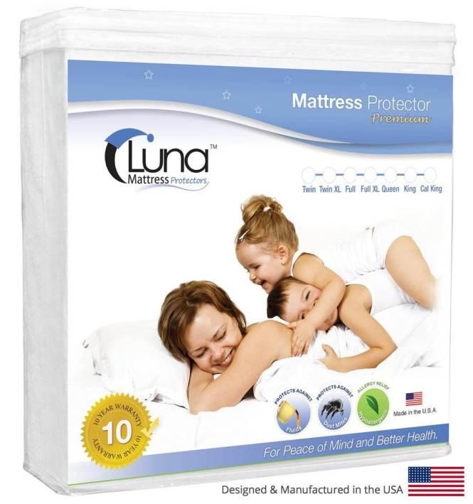 2 Luna Premium Waterproof Mattress Protector