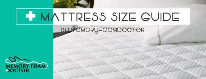 Mattress Size Chart Dimensions