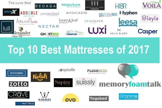 Top 10 Best Mattress Reviews Of 2017
