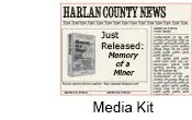 Media kit for Harlan County Miner book - Memory of a Miner