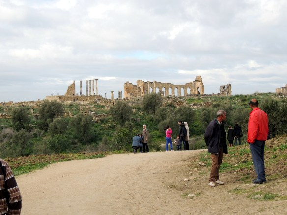 Entering the Volubilis ruins