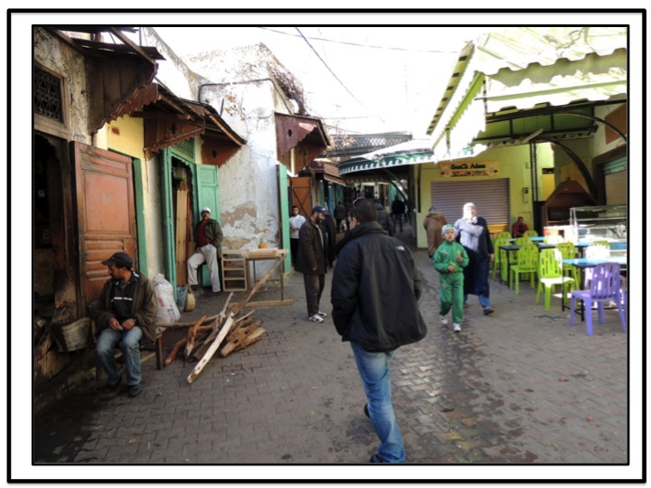 I followed Michell into the medina.  If I could not have seen him, I will probably be still wondering around lost today.