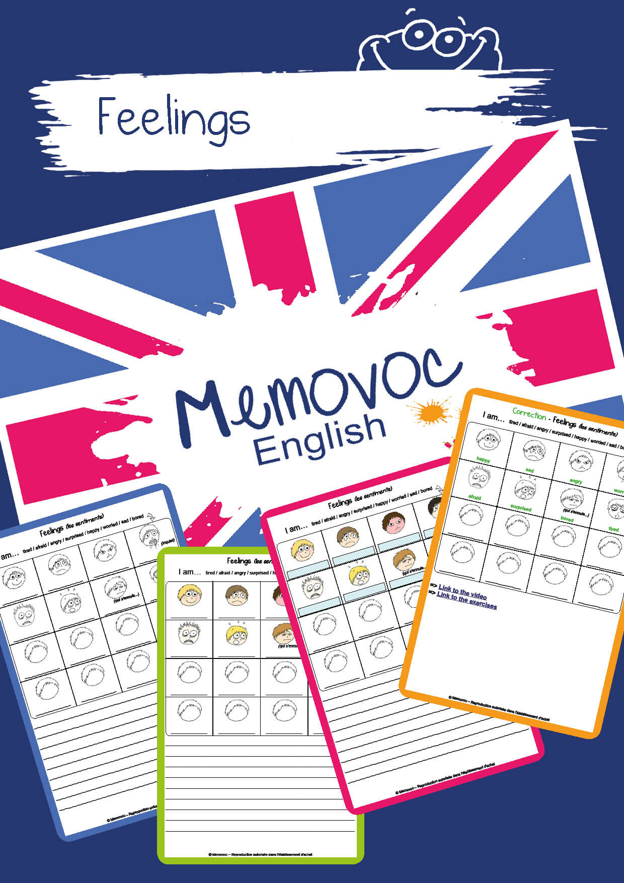 Feelings Vocabulary Worksheets Memovoc