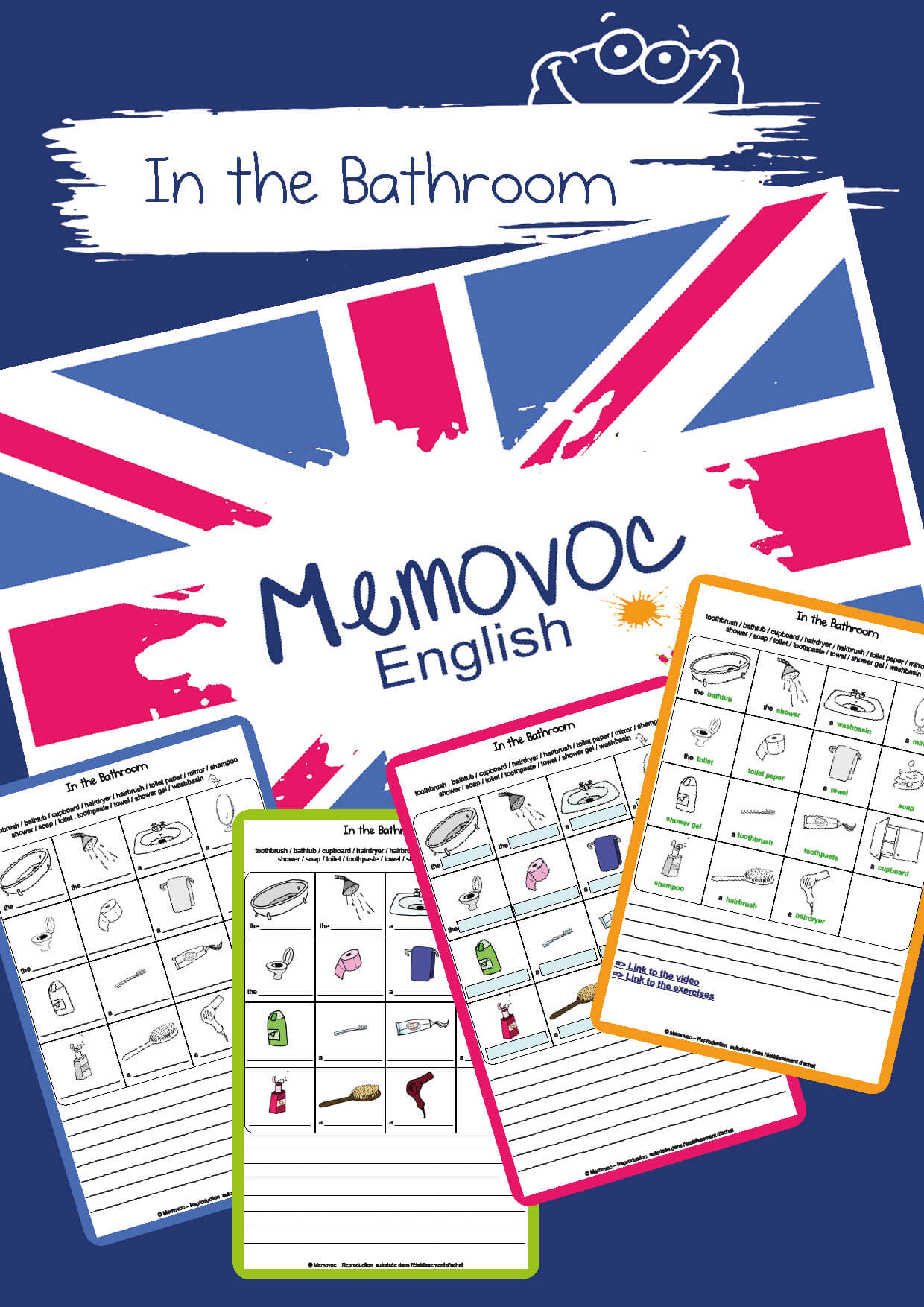 In The Bathroom Vocabulary Worksheets Memovoc