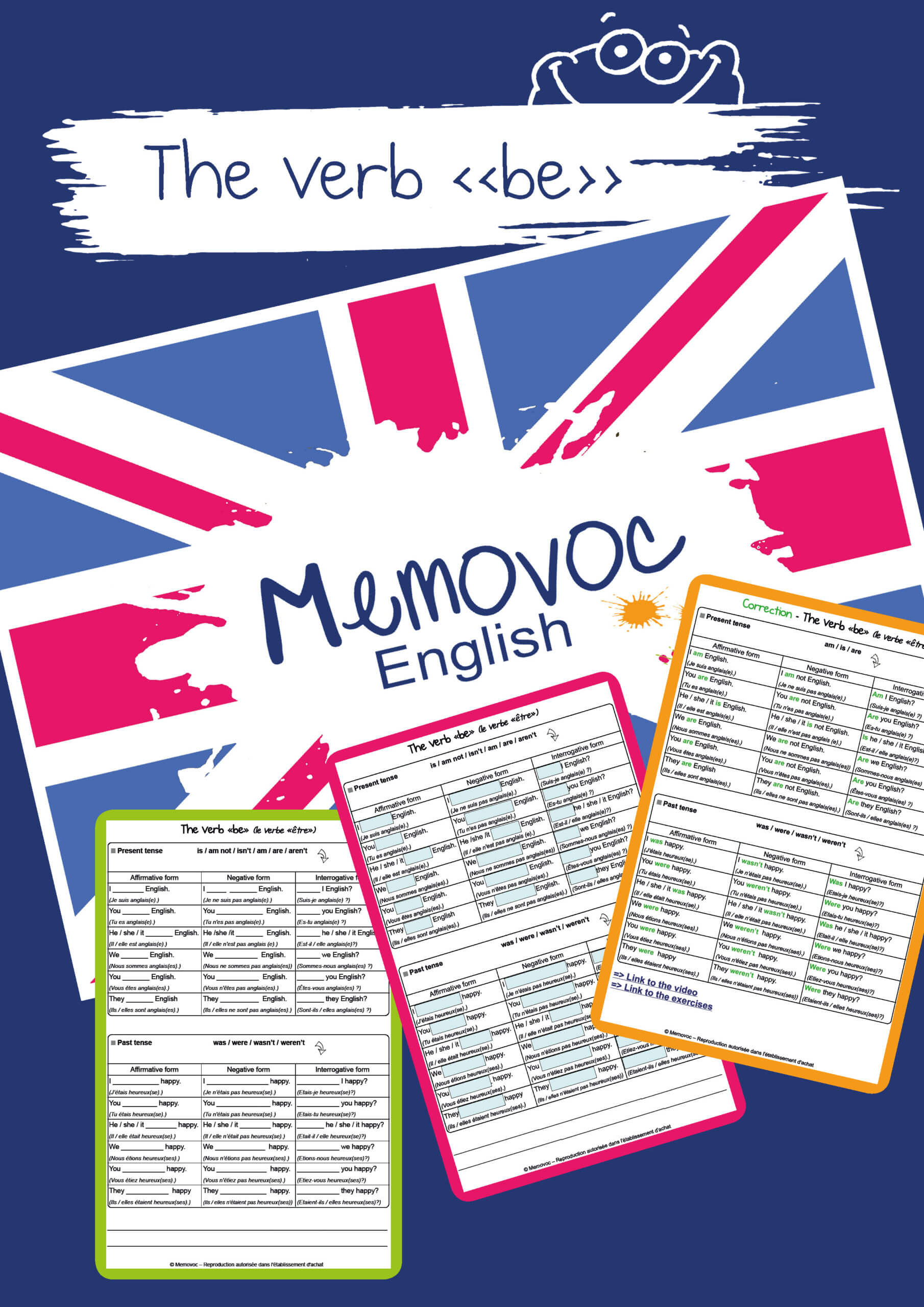 The Verb Be Vocabulary Worksheets Memovoc