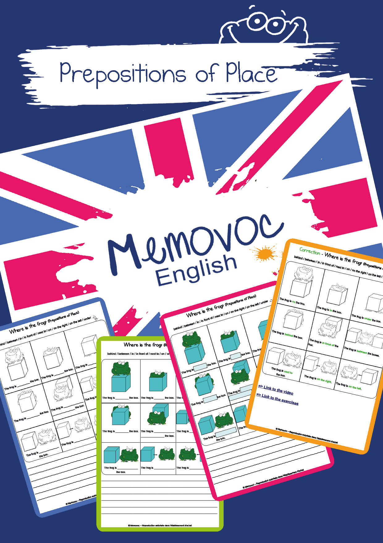 Prepositions Of Place Vocabulary Worksheets Memovoc