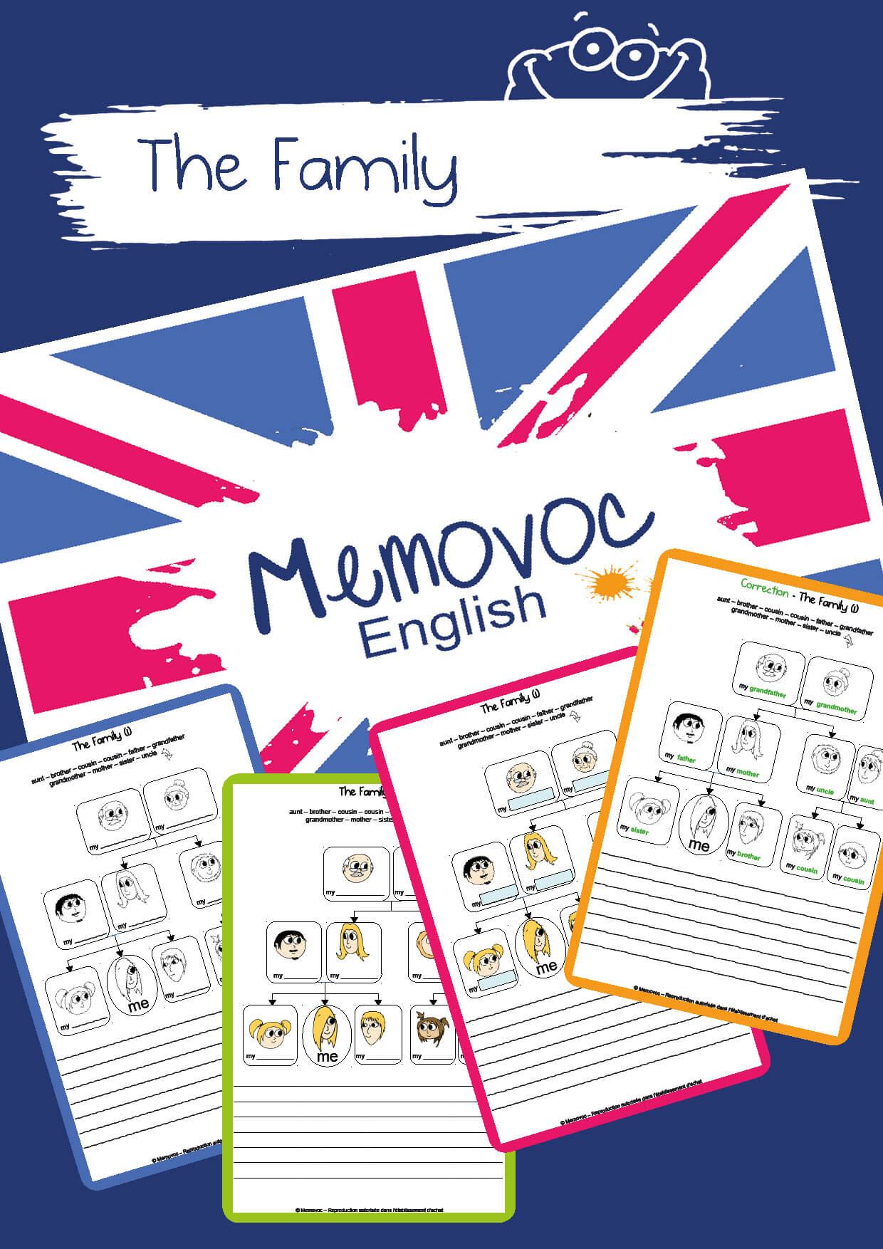 The Family Vocabulary Worksheets Memovoc