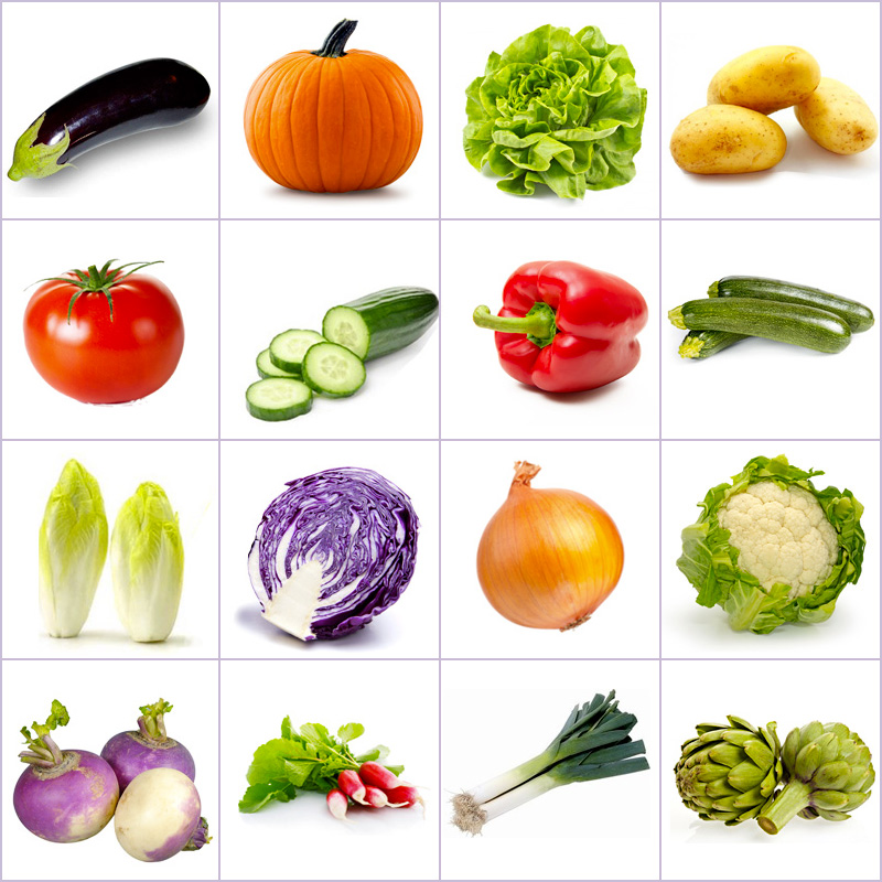Online Memory Game Grid Of Pictures Vegetables