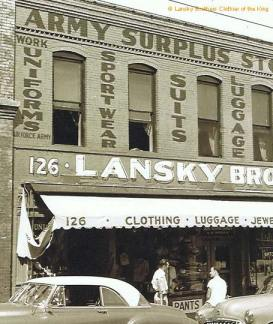 Lansky Brothers in der Beale Street 126, Memphis/Tennessee