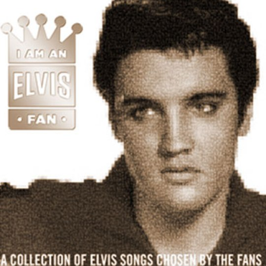 I'm An Elvis Fan: Mosaikartiges Cover mit Fan-Konterfeis