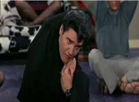 Elvis trying Yoga in the movie 'Easy Come, Easy Go'