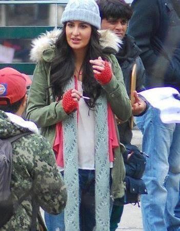 Katrina And Hrithik On The Sets Of Bang Bang Movie In Shimla