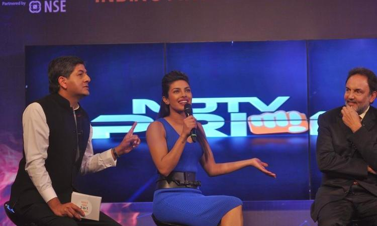 Actress Priyanka Chopra At NDTV First Dual Channel Launch Event