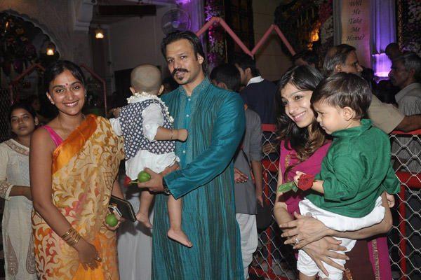 Vivek Oberoi And Shilpa Shetty Celebrates Janmashtami At Iskcon Temple