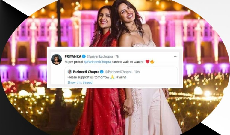 "Priyanka Chopra expresses her excitement as she shares ""cannot wait"" to watch Sister Parineeti Chopra 'Saina'"