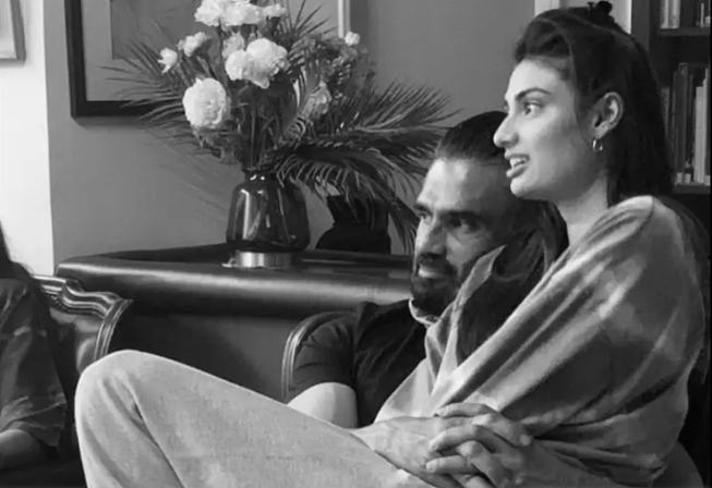 Suniel Shetty shares an adorable monochrome picture with daughter Athiya Shetty; Tiger Shroff is all hearts