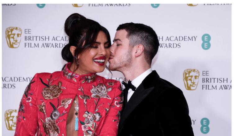 Priyanka Chopra, Nick Jonas go 'red and black' on BAFTA red carpet