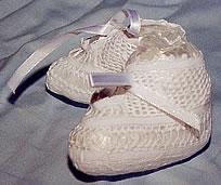 handmade lace booties