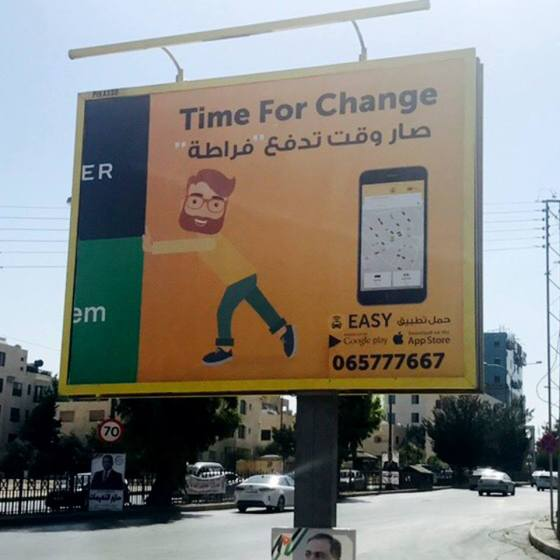 Careem & Easy Taxi are in an Ad War in Jordan