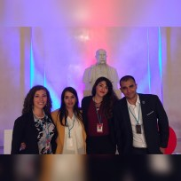 MENACS members (from left to right) Tiara Shaya, Rana Hameed, Farnaz Alimehri, and Karim El-Baz, attend the CTBT Science & Technology conference, held in Vienna, Austria, June 26-30th, 2017.