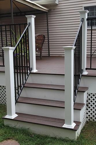 Designer S Image 72 W X 34 H Black Stair Rail Panel At | Outdoor Stair Railing Menards