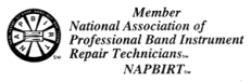 National Association of Professional Band Instrument Repair Technicians logo.