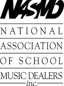 National Association of School Music Dealers logo.