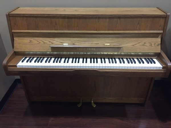 Young Chang – 42″ upright piano – Oak ($799)**SOLD**